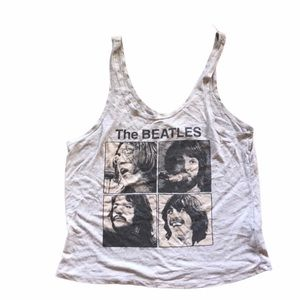 The Beatles Vintage Style Cropped Tank